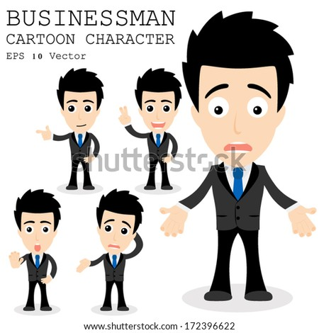 Businessman cartoon character EPS 10 vector - stock vector