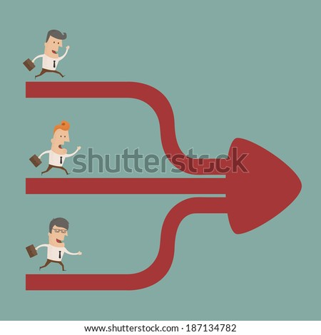 Businessman cooperation  , eps10 vector format - stock vector