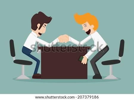 Businessman corruption concept , eps10 vector format - stock vector