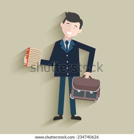 Businessman design,clean vector - stock vector