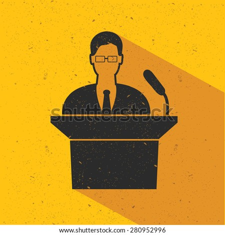 Businessman design on yellow background,flat design,clean vector