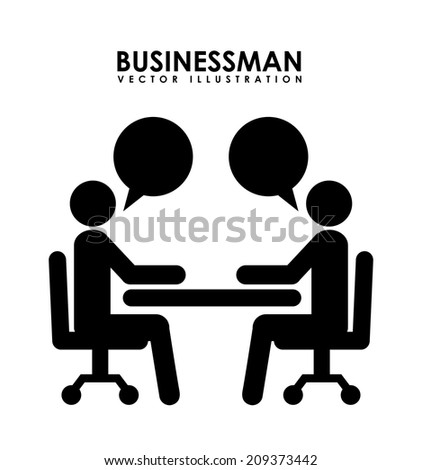 businessman design over white background vector illustration