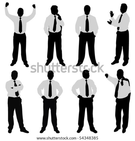 businessman (different positions) - stock vector