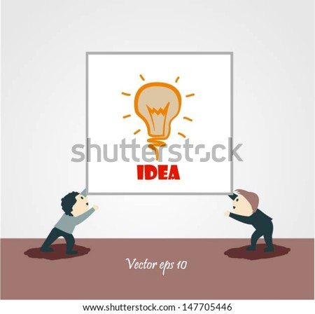 businessman explaining a financial plan to colleagues at meeting - stock vector