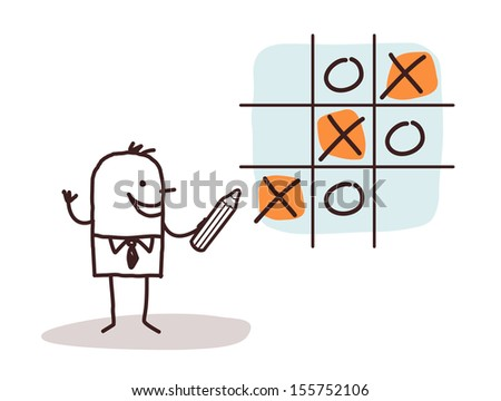 businessman & game - stock vector