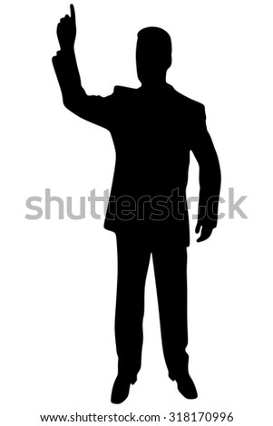 businessman gesturing with finger isolated on white background