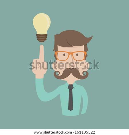Businessman get idea , eps10 vector format - stock vector