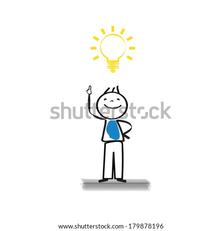 Businessman get the idea - abstract concept - stock vector