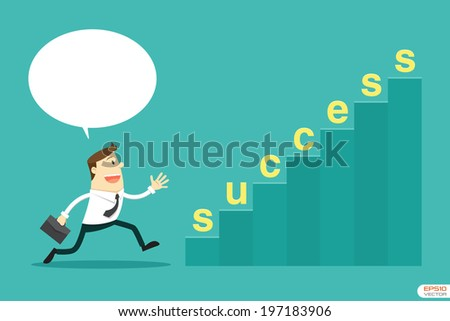 Businessman going to Successful - stock vector