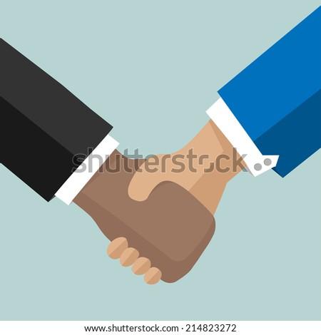 Businessman Handshake.Vector icon - stock vector