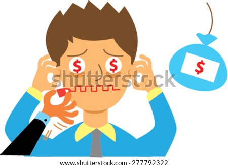 businessman hush money, concept of corruption. vector - stock vector