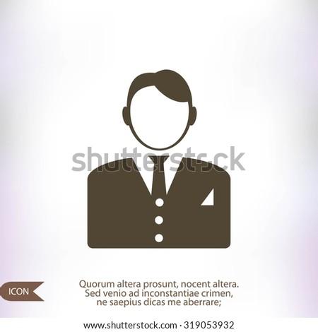 businessman icon - stock vector
