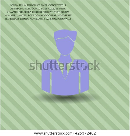 Businessman icon, Businessman icon vector, Businessman icon symbol, Businessman flat icon, Businessman icon eps, Businessman icon jpg, Businessman icon app, Businessman web icon - stock vector
