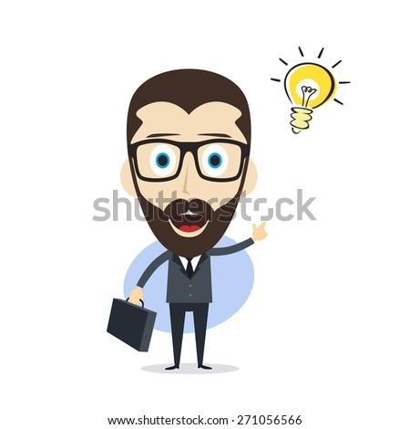 businessman idea - stock vector