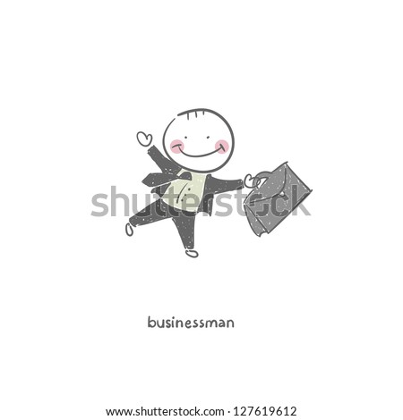 Businessman. Illustration. - stock vector