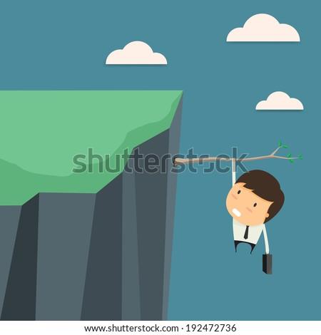 Businessman In business risks. Vector illustration. - stock vector