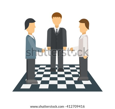Businessman in opposition concept man success leadership crowd individual decision vector. Business opposition concept and human leader opposition concept. Opposition concept communication metaphor. - stock vector