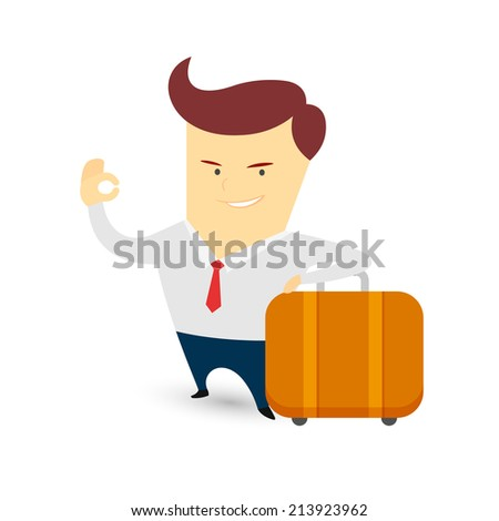 Businessman isolated on a clean white background