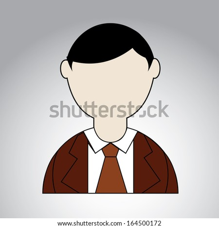 businessman over gray background vector illustration  - stock vector
