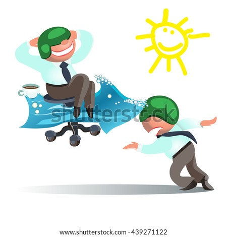 Businessman Run to Goal, Time and Way Success Concept - stock vector