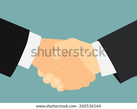 businessman's hand shaking - stock vector