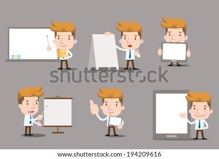 Businessman series - blank set - stock vector