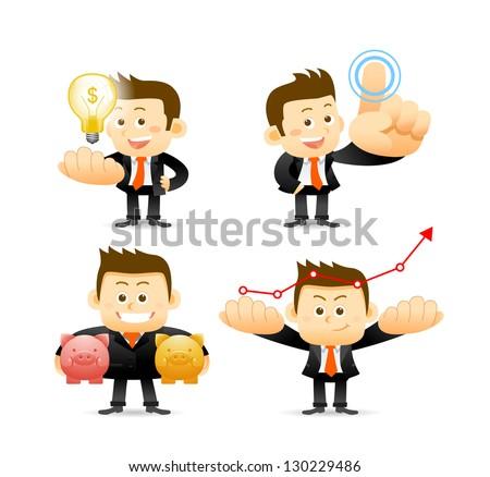 Businessman set - stock vector
