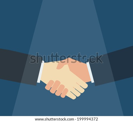 businessman shaking hand vector - stock vector