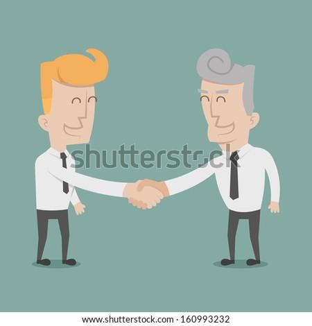 Businessman shaking hands  , eps10 vector format - stock vector