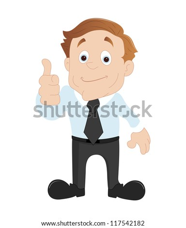 Businessman Showing Thumbs Up - stock vector
