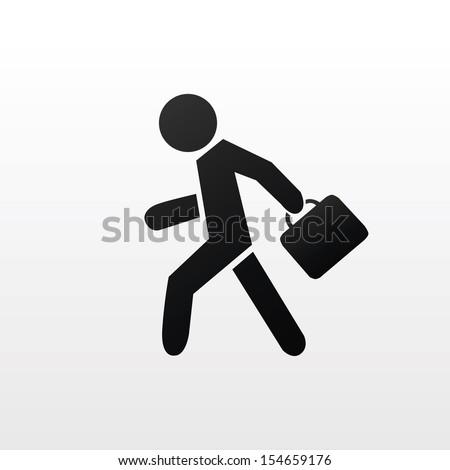 Businessman sign - stock vector