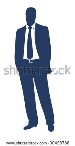 Businessman silhouette - stock vector
