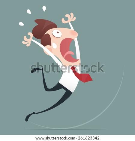 Businessman slip - stock vector