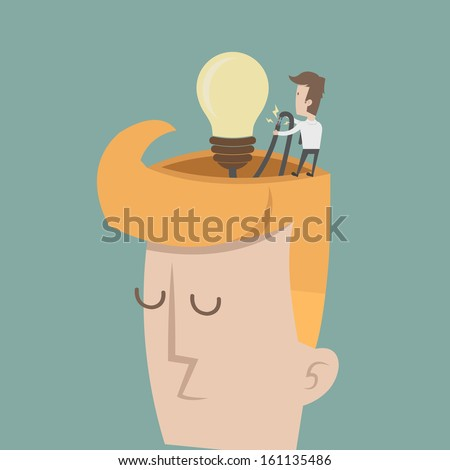 Businessman spark idea , eps10 vector format - stock vector