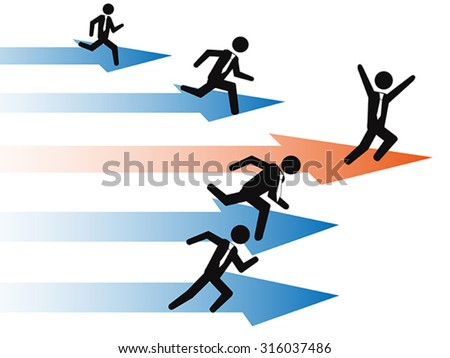 businessman Stand Out From The Crowd - stock vector