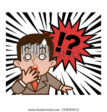 Businessman surprised - stock vector