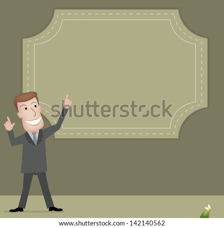 businessman talk - stock vector