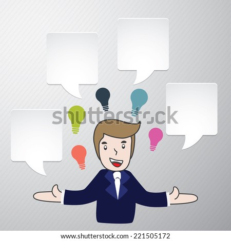 Businessman talk with speech bubble icon. With free space for your text. template modern info graphic design, for business template, marketing, creative templates and graphics vector
