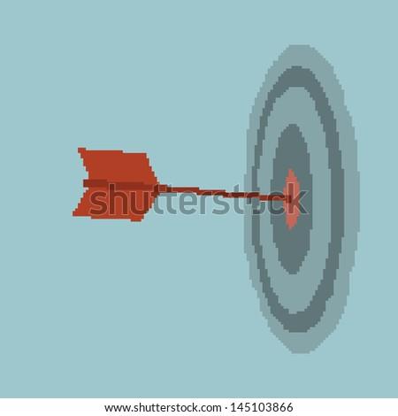 Businessman target - stock vector