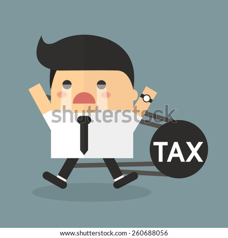 Businessman tax concept. - stock vector