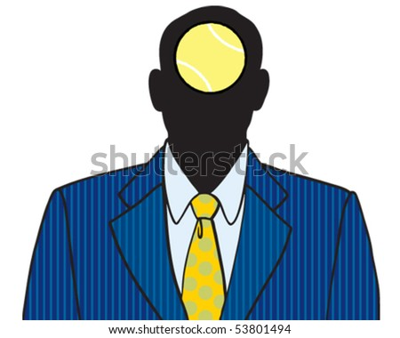 Businessman tennis ball - stock vector