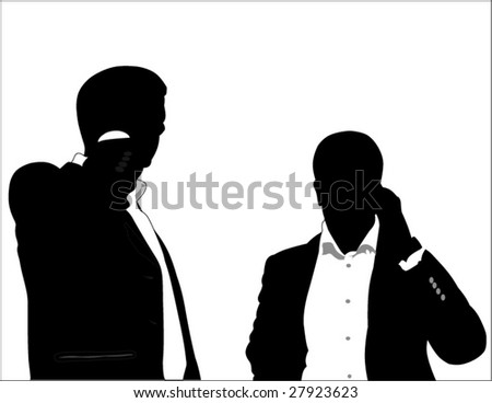 businessman using a mobile phone - stock vector