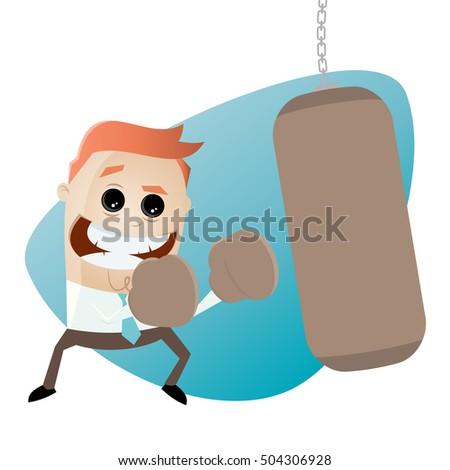 businessman punching bag clipart stock vector 504306928 - shutterstock