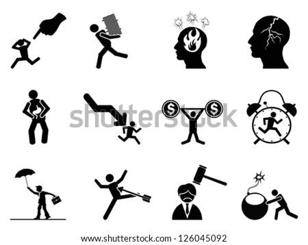 Reduce Stress Icon Stressed Icon Stock
