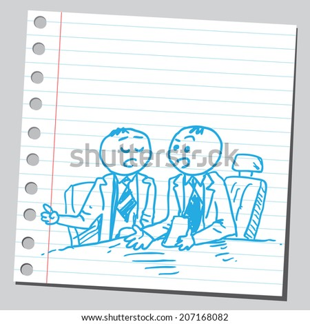 Businessmen consulting each other - stock vector