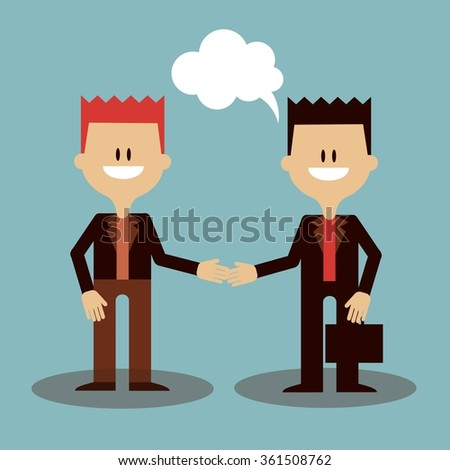 businessmen greet illustration