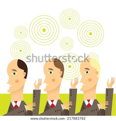 Businessmen in conversation, Group of businessmen - stock vector