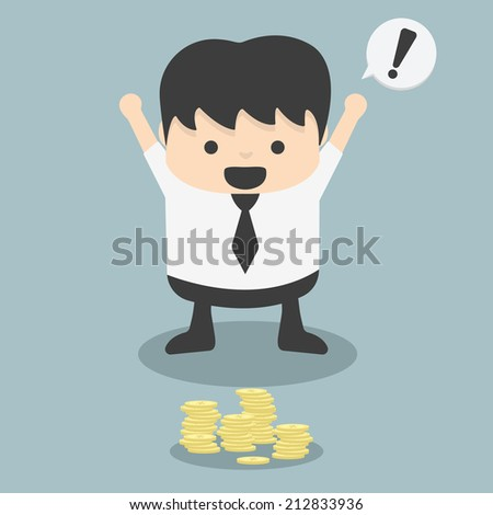 businessmen see found Money fortuitous - stock vector