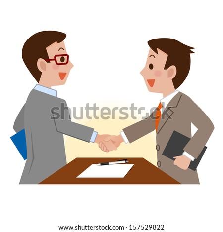 Businessmen shaking hands - stock vector