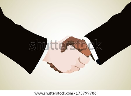 businessmen shaking hands  - stock vector